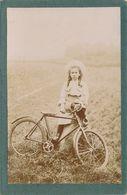 CABINET - Portrait Fillette Avec Sa Bicyclette - Vélo - (anonyme - Ramecourt 1904) (BP) - Photographs