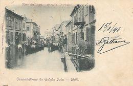 OLD POSTCARD - ROMANIA - INNONDATIONS DE GALATZ JUIN - 1897 - VIAGGIATA 1898 - T3 - Roumanie