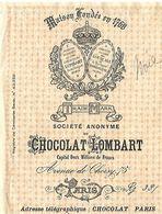 Traite 1928 / PARIS Chocolat LOMBART / Timbre Fiscal 45c - Bills Of Exchange