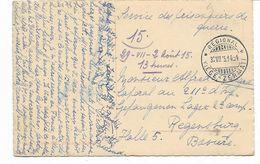 WW1-1915- Cachet Ferroviaire REGIONAL -VIEGE-ZERMATT -vers SERVICE DES PRISONNIERS REGENSBURG BAVIERE Voir 2 Scans - Postmark Collection