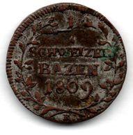 Suisse / 1/2 Batzen 1809 K / TB+ - Suisse