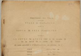 Vente De Bois Façonnés, 1960, Damblain, Isches...(Vosges) - Sammlungen