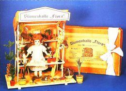 Poupée   Fleuriste - Carte Postale Card - Bloemen & Planten