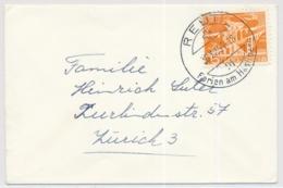 Damen-Brief Mit K-Stempel REUTI - Marcofilia
