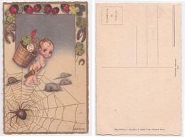 Schiostri - Ballerini Editeur, Enfant, Fortune, Symboles De Chance, Cupidon, Bimbo, Cupido, Fortuna, Illustree, Signee - Autres Illustrateurs