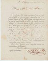 Ht RHIN: BOULANGER, à Propos De La Fiscalité Des Effets De Commerce / Avis Imprimé De 1834 - Banco & Caja De Ahorros
