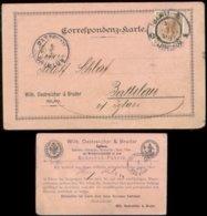18959 Österreich Böhmen Avis Karte Schuhfabrik Iglau - Battelau 1899 , Bedarfserhaltung. - 1850-1918 Imperium