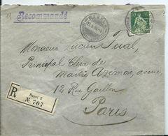SUISSE - Lettre Recommandée Au Départ De BASEL - Timbre Perforé - Covers & Documents