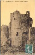 27 - GISORS - Ancienne Porte Du Château - Carte Toilée - Gisors