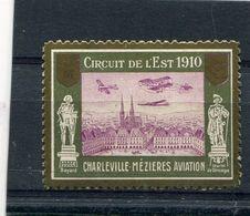 08 - Charleville Mézières : Aviation - Vignette Souvenir Du Circuit De L' Est - 1910 - Charleville