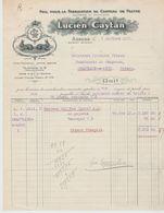 Belgique: L. CAYTAN Fabrication Chapeau ,Poil Lapin à Assche / Fact De 1922 - Kleding & Textiel