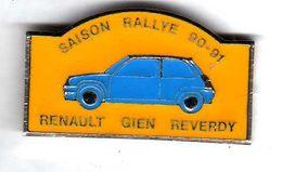 Pin's Automobile Renault 5 Saison Rallye 90/91 Gien Reverdy  ( 1 ) Voir Description - Renault
