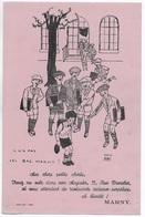 RARE BUVARD PUBLICITAIRE  BAS CHAUSSETTES MARNY 33 RUE TRONCHET PARIS ** IL N'A PAS SES BAS MARNY **  HERVE BAILLE ** - Buvards, Protège-cahiers Illustrés