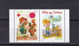 FRANCE 2002 :  NEUF**  LUXE   Y/T  N° 3468 PAIRE 3467a + 3468 ISSUS DE CARNET SOIT P3467A - Nuovi