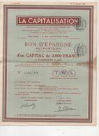 Bon D'épargne LA CAPITALISATION  1942 (M0305) - Acciones & Títulos