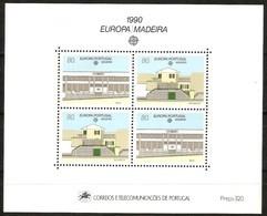 Cept 1990 Portugal Madère Madeira Yvertn° Bloc 11 *** MNH Cote 11 Euro - Europa-CEPT