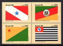 Bresil Brasil 1778/81 Drapeaux Des états - Briefmarken