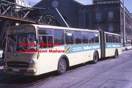 Reproduction D'une Photographie D'un Bus Mercedes Ligne 49 Essen à Wuppertal En Allemagne En 1971 - Reproducciones