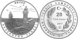 AC - DEVEBOYNU LIGHT HOUSE, DATCA LIGHTHOUSE SERIES # 7 COMMEMORATIVE SILVER COIN PROOF - UNCIRCULATED TURKEY, 2017 - Turkije