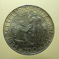Czechoslovakia 100 Korun 1948 Silver - Checoslovaquia