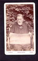 CDV CHAMBAY PARIS  :   Très Beau Portrait   Eugène Hugo Vintage Albumen 1888 - Ancianas (antes De 1900)