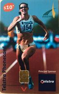 AUSTRALIE  -  Phonecard  -  Telstra  -  Principal Sponsor Of Athletics Australia  -  $ 10 - Australien