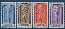 Série De 4 Vignettes * Expo De 1925  - Cote 80 € - Commemorative Labels