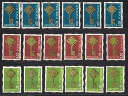 Cept 1968 Portugal Yvertn° 1032-34 *** MNH 6 Séries Cote 120 Euro - Europa-CEPT