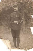 Photographie Ancienne 14-18, Lieutenant Aviateur Venant De L'artillerie, Croix De Guerre, Dédicacée Le 14 Juillet 1916 - Aviation