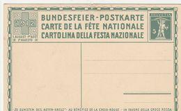 Suisse Entier Postal Illustré 1912 - Stamped Stationery