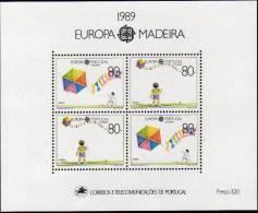 CEPT 1989 Portugal Madère Madeira Yvertn° Bloc 10 *** MNH Cote 13 Euro - 1989