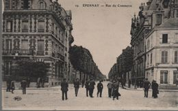 CPA 51 EPERNAY Rue Du Commerce - N° 29 ELD, Voyagée, écriture Plume, Non Timbrée, 1917, DD Blanc - Epernay