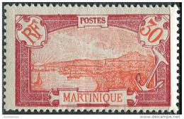 Martinique 1922/25. Yvert #98 MNH/Luxe. Transport. Ships. Fort-de-France (Ts10) - Martinique (1886-1947)