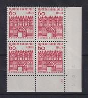 Berlin 1964 60 Pfg Treptower Tor Mi.-Nr. 247 ER-Viererblock Mit Formnummer 1 ** - [5] Berlin