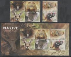 AUSTRALIA  , 2015 ,MNH, NATIVE ANIMALS, KOALA BEARS, KANGAROOS, TASMANIAN DEVILS,WOMBATS, ECHIDNAS, 6v+ SHEETLET - Sellos