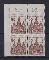 Berlin 1964 80 Pfg Ellinger Tor Mi.-Nr. 249 Eckrand-Viererblock OL ** - [5] Berlin