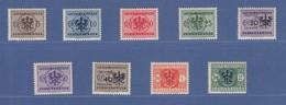 Dt. Besetzung 2.WK, Laibach Portomarken Mi.-Nr. 1-9  Satz 9 Werte Komplett ** - Besetzungen 1938-45