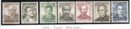 CECOSLOVACCHIA (CZECHOSLOVAKIA) - SG 873.879  - 1955 CULTURAL ANNIVERSARIES  (COMPLET SET OF 7)  - USED- RIF.CP - Gebraucht