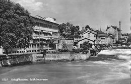 SCHAFFHAUSEN → Partie An Der Mühlenstrasse Mit Dem Rhein, Fotokarte Ca.1955 - SH Schaffhausen