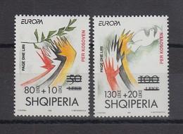 Albanien 2001 Kosovo-Hilfe Mi.-Nr. 2784-85 Satz 2 Werte ** - Albanien