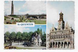 (RECTO / VERSO) SAINT QUENTIN EN 1961 - MULTIVUES - BELLE FLAMME - CPSM GF VOYAGEE - Saint Quentin
