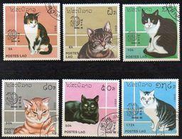 Laos 1999 MiNr. 1124/ 1129  O/ Used  ; Katzen - Laos