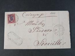 """1325 ITALIA Regno-1878- """"Ondine"""" C. 2 Su 2,00 MONTERONI D'ARBIA>SOVICILLE (descrizione) - 1861-78 Vittorio Emanuele II"""