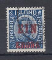 Island 1926 Freimarke Mit Lokalem Aufdruck EIN KRONA Mi.-Nr. 121 O - Iceland