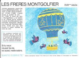 Buvard Les Frères Montgolfier XVIIIème Siècle - Vloeipapier