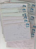 Algérie Lot 13 Lettres Correspondance De Militaire à ORAN  1928 à Institutrice Masnau Massuguies Tarn Cachet Perlé Verso - Briefe U. Dokumente