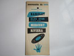 Nouveautés Du Mois - Disques BARCLAY-BLUE STAR-MERCURY-RIVIERA - Octobre 1955 (12 Pages) - Musica & Strumenti