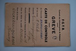 3116/Carte De Contrôle FGTB-GREVE 1960_COCKERILL-Ougrée-Seraing-Hauglustaine-Rue Vivegnis LIEGE - Cartes