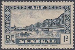 Senegal 1935 - Definitive Stamp: Dakar Bridge - Mi 118 * MH (thin) [1042] - Neufs