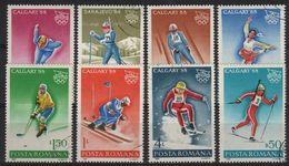 JO88-H2 - ROUMANIE N° 3782/89 Obl. Jeux Olympiques D'hiver 1988 - 1948-.... Repubbliche